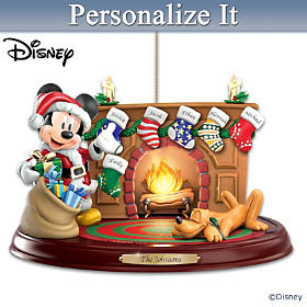 Disney The Stockings Were Hung Personalized Ornament