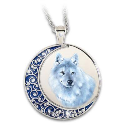 Christmas,Thanksgiving Gift,Hematite Wolf Pendant Wolf Spiritual Necklace Spirit Animal Wolves,Gothic Enchantment