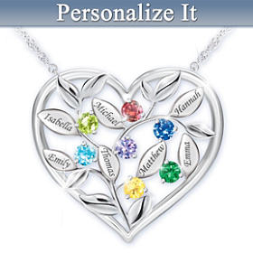 Love Grows Here Personalized Pendant Necklace