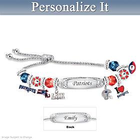 Go New England Patriots! Personalized Bracelet