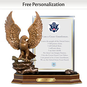 Coast Guard Honor Personalized Sculpture