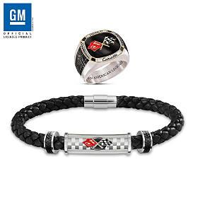 Corvette: The Legend Men's Bracelet And Ring Set