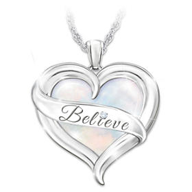 Believe In Yourself Diamond Pendant Necklace