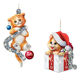 Tails Of Christmas Mischief Ornament Set