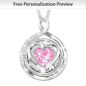 Never Ending Love Personalized Flip Pendant Necklace