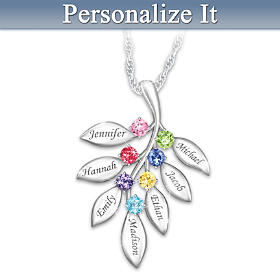 Our Family Grows Together Personalized Pendant Necklace