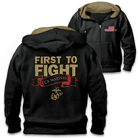First To Fight Men's Hoodie