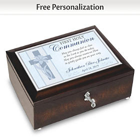 First Holy Communion Personalized Music Box