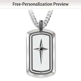 Protection & Strength Personalized Spinning Pendant Necklace