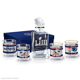 New England Patriots Super Bowl LIII Champions Decanter Set