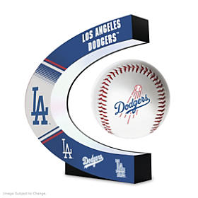 Los Angeles Dodgers Levitating Baseball Sculpture