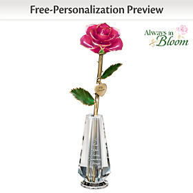 My Precious Daughter Personalized Rose Centerpiece
