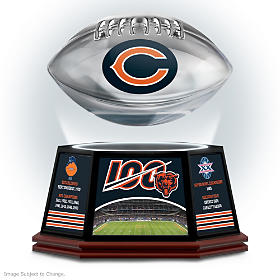 Chicago Bears 100th Season Levitating Football Sculpture