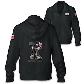 Because Of The Brave Women's Hoodie