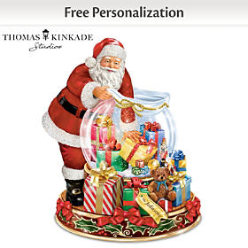 Thomas Kinkade Wishes Come True Personalized Water Globe