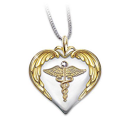 Photo of Nurse's Serenity Prayer Diamond Pendant by The Bradford Exchange Online