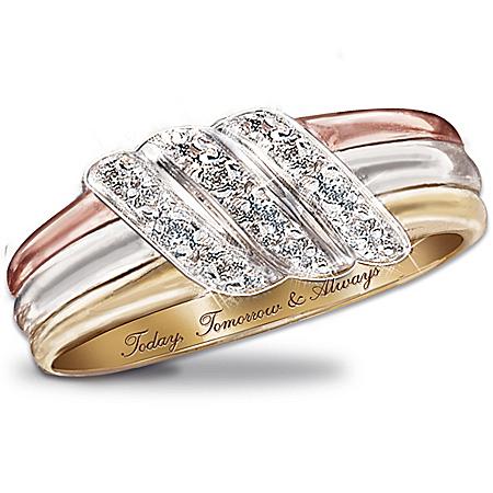 Today, Tomorrow, Always 10K Gold Diamond Ring