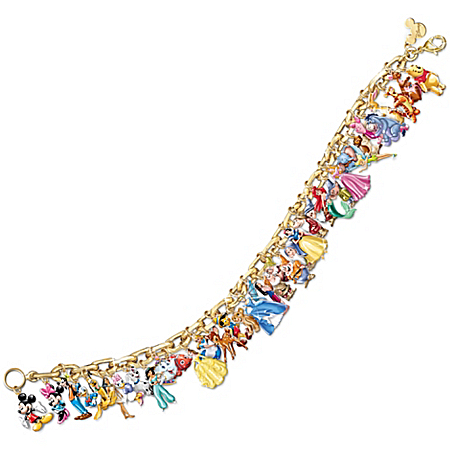 Photo of Ultimate Disney Classic Charm Bracelet Featuring 37 Disney Characters by The Bradford Exchange Online