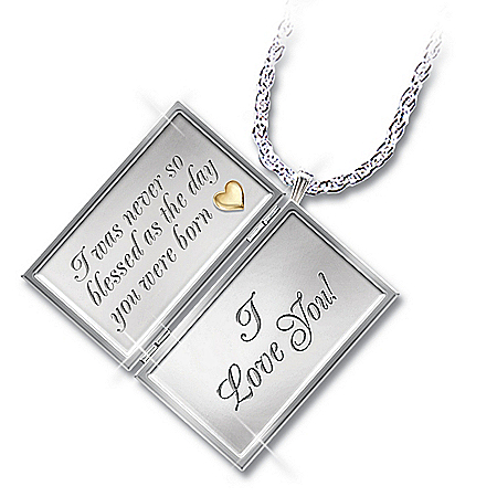 Photo of Dear Granddaughter Letter Of Love Sterling Silver Locket Necklace Gift For Granddaughter by The Bradford Exchange Online