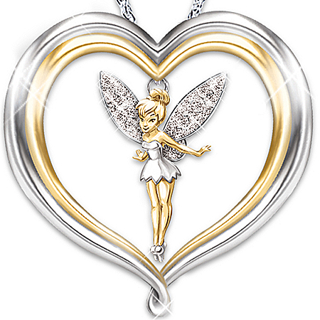 Photo of Tinker Bell Believe Pendant Necklace: Disney Jewelry by The Bradford Exchange Online
