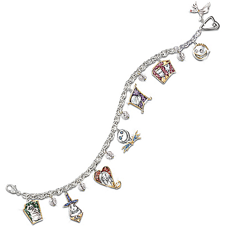 Photo of Tim Burton's The Nightmare Before Christmas Charm Bracelet by The Bradford Exchange Online
