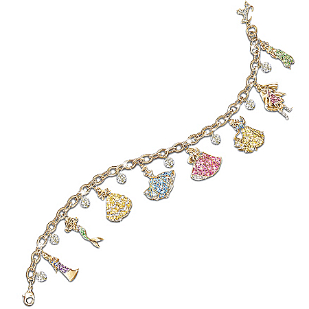Photo of Disney Princess Charm Bracelet With Swarovski Crystals: Collectible Disney Jewelry by The Bradford Exchange Online