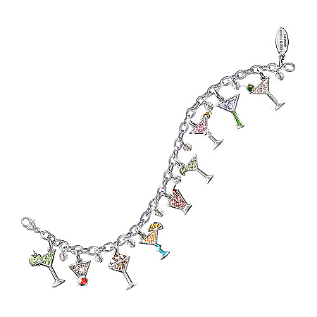 Photo of The Happy Hour Martini Charm Bracelet: Unique Jewelry Gift For Her by The Bradford Exchange Online