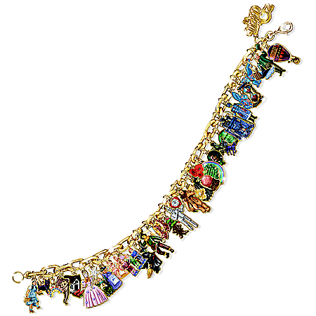 Photo of Wizard Of Oz Ultimate Charm Bracelet: Engraved Wizard Of Oz Jewelry Collectible by The Bradford Exchange Online