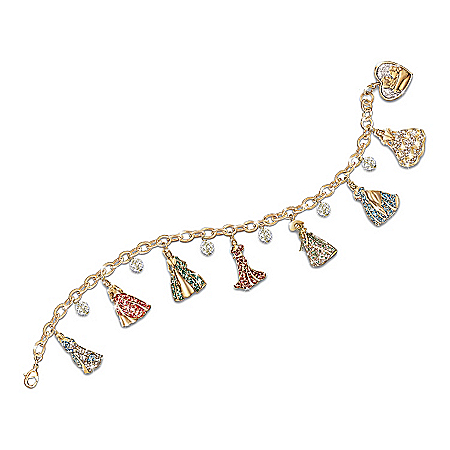 Photo of Gone With The Wind Swarovski Crystal Charm Bracelet by The Bradford Exchange Online