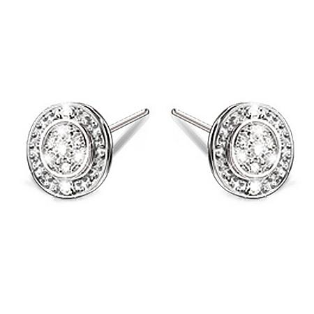 Photo of Hidden Message Of Love Diamond Earrings by The Bradford Exchange Online