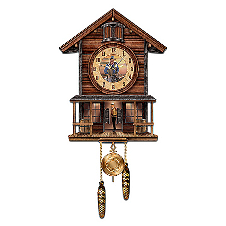 Photo of John Wayne: American Icon Collectible Cuckoo Clock by The Bradford Exchange Online
