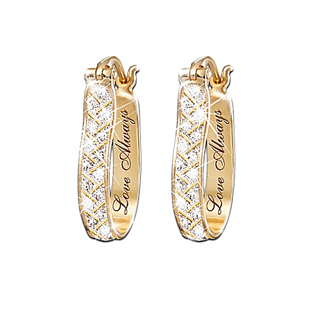 Photo of For Love Always Diamond Earrings by The Bradford Exchange Online