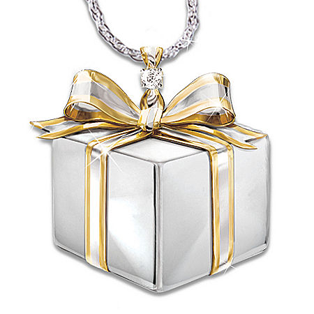 Photo of Friend's Gift Of Love Diamond Pendant Necklace by The Bradford Exchange Online