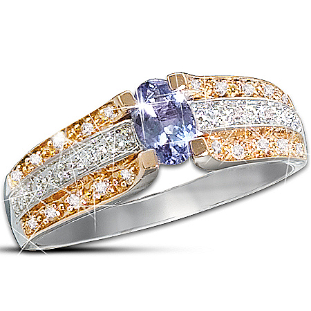Photo of Allure: Tanzanite And Diamond Ring by The Bradford Exchange Online