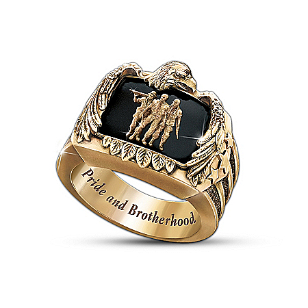 Photo of The Veteran's Pride And Brotherhood Men's Ring by The Bradford Exchange Online
