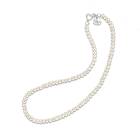 Photo of Grandma's Pearls Of Wisdom: Genuine Cultured Freshwater Pearl Necklace For Granddaughter by The Bradford Exchange Online