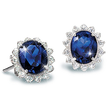 Photo of Matching Earrings To The Kate Middleton Engagement Ring Replica: Royal Inspiration by The Bradford Exchange Online
