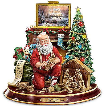 Image of Christmas Story Told by Thomas Kinkade Santa Claus Figurine
