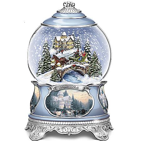 Photo of Thomas Kinkade Jingle Bells Christmas Musical Snowglobe by The Bradford Exchange Online