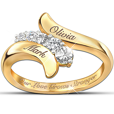 Photo of Our Love Grows Stronger Personalized Journey Ring: Romantic Jewelry For Her by The Bradford Exchange Online