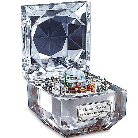 Photo of Thomas Kinkade I'll Be Home For Christmas Music Box by The Bradford Exchange Online