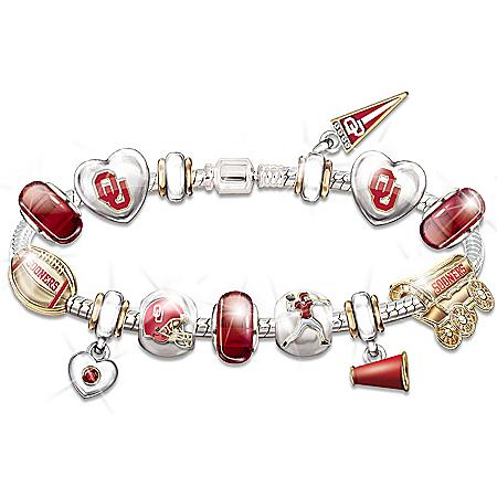 Photo of Oklahoma Sooners Charm Bracelet: Show Your Crimson Pride by The Bradford Exchange Online