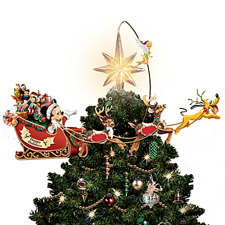 Photo of Disney's Timeless Holiday Treasures Tree Topper by The Bradford Exchange Online