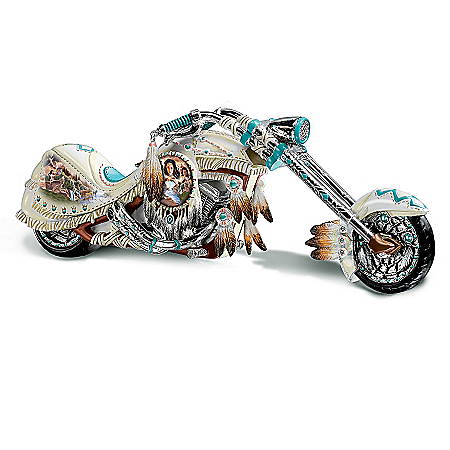 Photo of Dream On Down The Highway Native American-Inspired Chopper Figurine by The Bradford Exchange Online