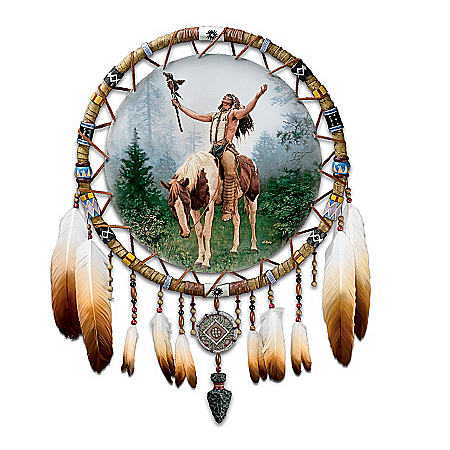 Photo of The Calling Native American-Inspired Dreamcatcher Wall Decor by The Bradford Exchange Online