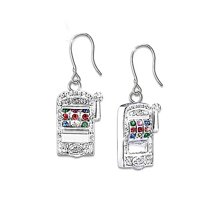 Photo of Lucky Jackpot Slot Machine Earrings by The Bradford Exchange Online