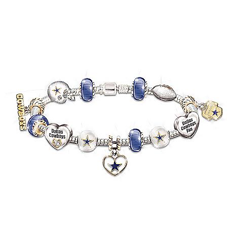 Photo of Go Cowboys! #1 Fan Charm Bracelet by The Bradford Exchange Online