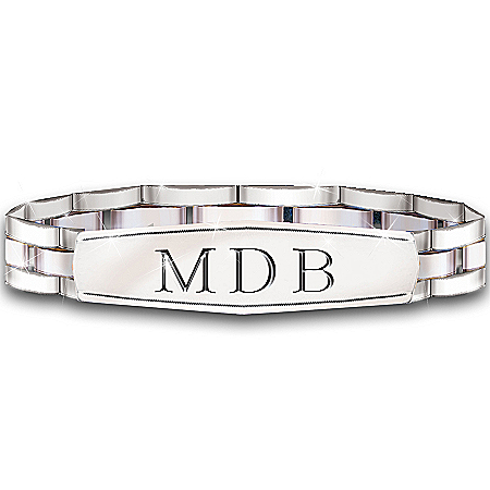 Photo of My Son, My Pride, My Joy Personalized Men's Stainless Steel Bracelet by The Bradford Exchange Online