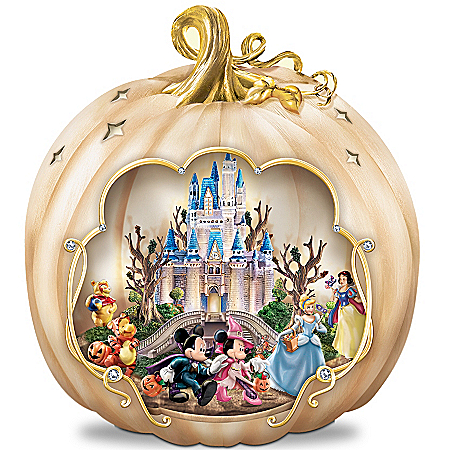 Photo of Disney's Spook-tacular: Halloween-Themed Pumpkin Tabletop Centerpiece by The Bradford Exchange Online