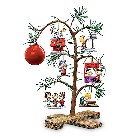 Photo of Tabletop Tree: PEANUTS Classic Holiday Memories Tabletop Tree by The Bradford Exchange Online